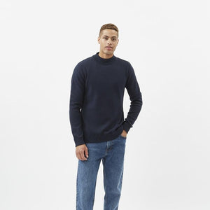 Turtle Neck Jumper - Navy