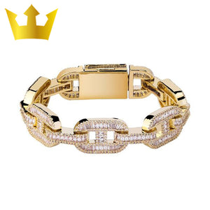 14mm Big Box Clasp Cuban Link Bracelet - MajesticVUE