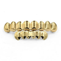 Gold 8 Upper Jaw & 6 Lower Jaw Teeth Grillz - MajesticVUE