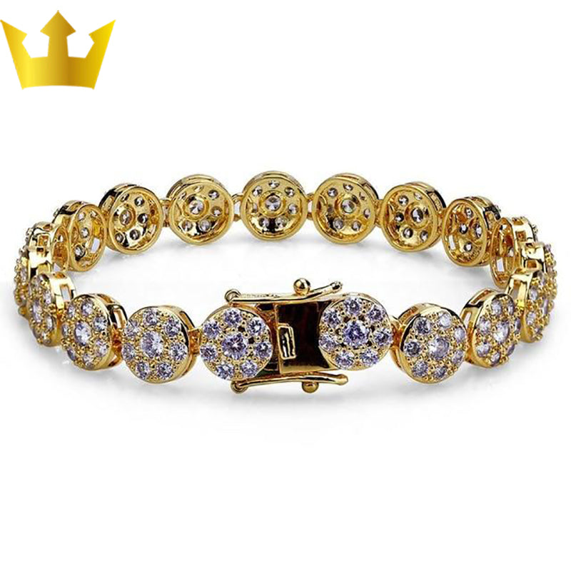 Gold/Silver Plated Iced Out Bling Bracelet - MajesticVUE
