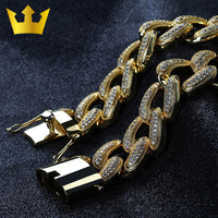 Hip Hop Copper Iced Out Bracelet - MajesticVUE