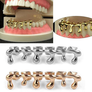 Gold Silver Copper Teeth Drip Grillz - MajesticVUE