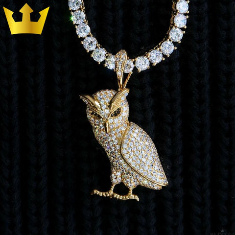 Image of 18K GOLD, MAJESTIC OWL. - MAJESTICVUE
