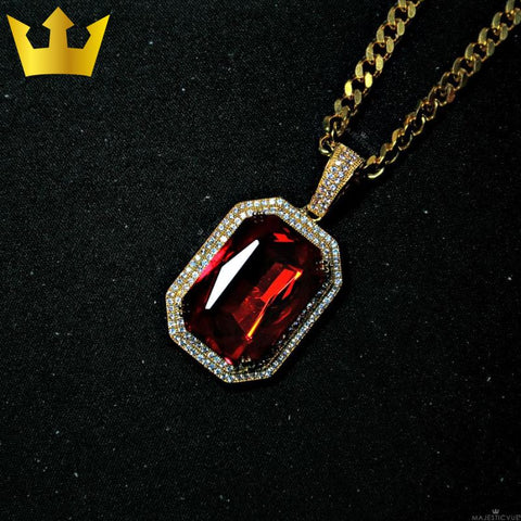 Image of 18K GOLD, BLOOD RUBY. - MAJESTICVUE