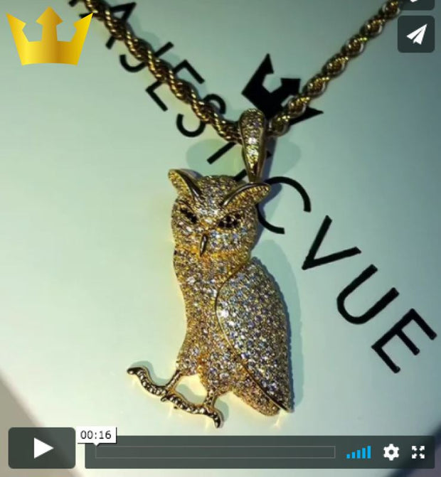 18K GOLD, MAJESTIC OWL.