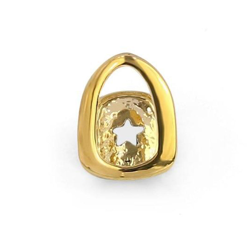Gold Plated Hollow Open Face Grillz - MajesticVUE