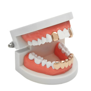 Hip Hop Rose Gold Plated Teeth Grillz - MajesticVUE