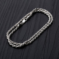 Rope Chain Rope Chain Necklace 925 Sterling Silver