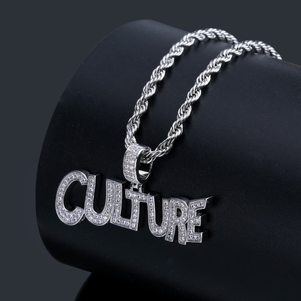 Hip Hop Bubble Letters CULTURE Pendant