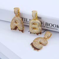 Gold A-Z Custom Name Bubble Letters Necklace & Pendant - MajesticVUE