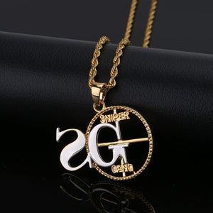 Personalized Solid Back SNIPER Pendant