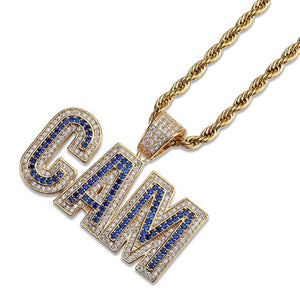 Gold Bubble Letters CAM Necklace & Pendant - MajesticVUE