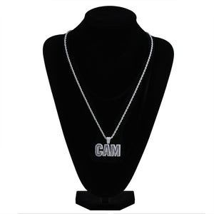 Silver Bubble Letters CAM Necklace & Pendant - MajesticVUE