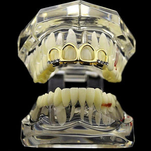 Four Teeth Full Open Face Hollow Grillz - MajesticVUE