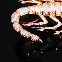 Rose Gold Iced Out Animal Scorpion Pendant - MajesticVUE