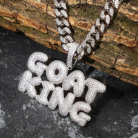 Name Letters Chain Iced Out Pendants