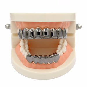 8 Top & 6 Bottom Jaw Teeth Copper Grillz - MajesticVUE