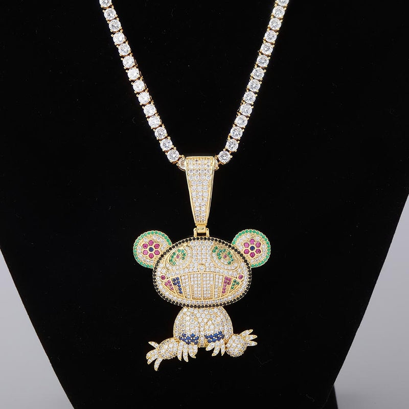 Hip Hop Iced Out Frog Pendant
