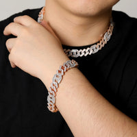 Heavy Miami Baguette Zircon Iced Out Cuban Link Necklace