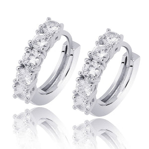 Micro Pave CZ Round Stud Earring For Men & Women - MajesticVUE