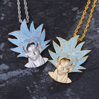 Iced Out Dragon Ball Character Monkey King Pendant