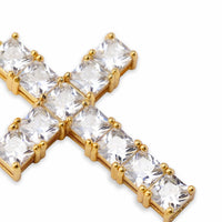 Micro Paved Cross Bling Iced Out Earrings For Men - MajesticVUE