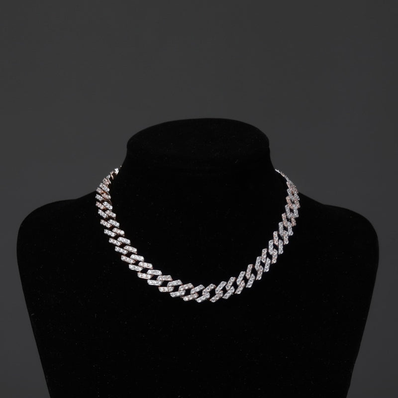 Silver Iced Out Cubic Zirconia Necklace - MajesticVUE
