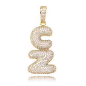 Gold Bubble Letters Pendant - MajesticVUE