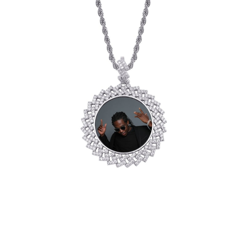 Silver Photo Round Medallions Necklace & Pendant - MajesticVUE