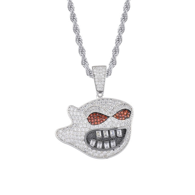 Evil Spirit Red Eyes Big Mouth Pendant