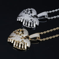 Hip hop Heart Necklace & Pendant