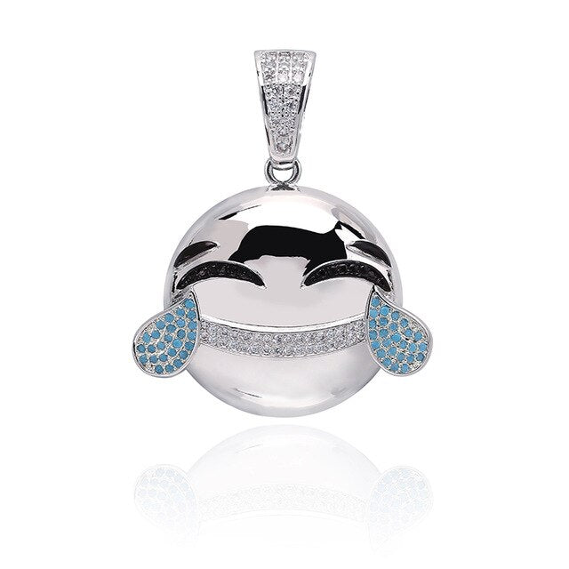 Laugh Cry  Cubic Zircon Plated Pendant
