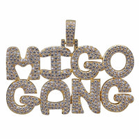 Hip Hop Bubble letters Necklace & Pendant
