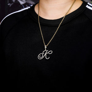 A-Z Cursive Letters Name Pendant & Necklace