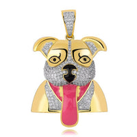 Hip Hop Tongue Dog Animal Iced Out Pendant
