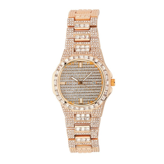 Iced Out Diamond  Quartz  Watch