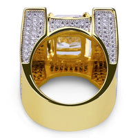 Gold Color Plate Micro Pave Cubic Zircon Rings