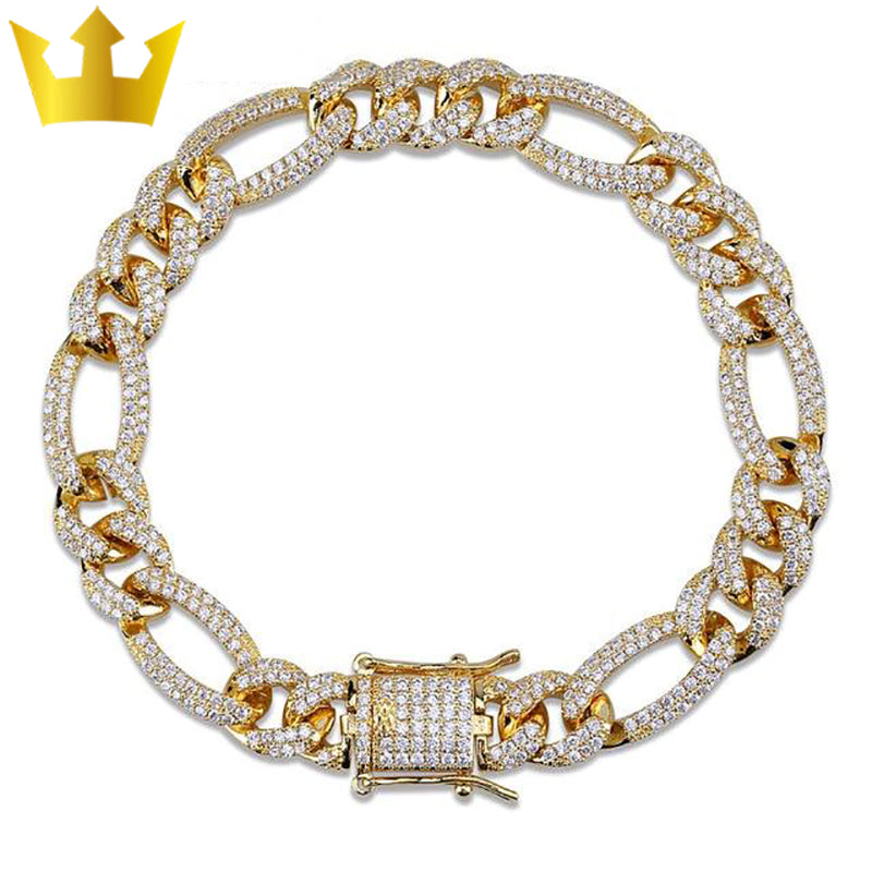 Personality Iced Out Miami Curb Bracelets Majestic-Vue