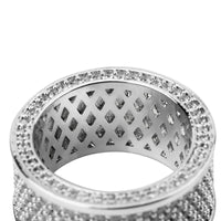 Micro Pave Iced Out Bling AAA+ Cubic Zircon Round Rings