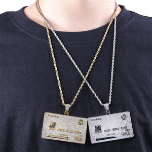 Iced Out Credit VISA Card Pendant