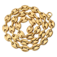 Gold Solid Back Cuban Link Stainless Steel Necklace - MajesticVUE