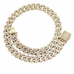 Gold Iced Out Cubic Zirconia Necklace - MajesticVUE