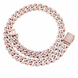 Rose Gold Iced Out Cubic Zirconia Necklace - MajesticVUE
