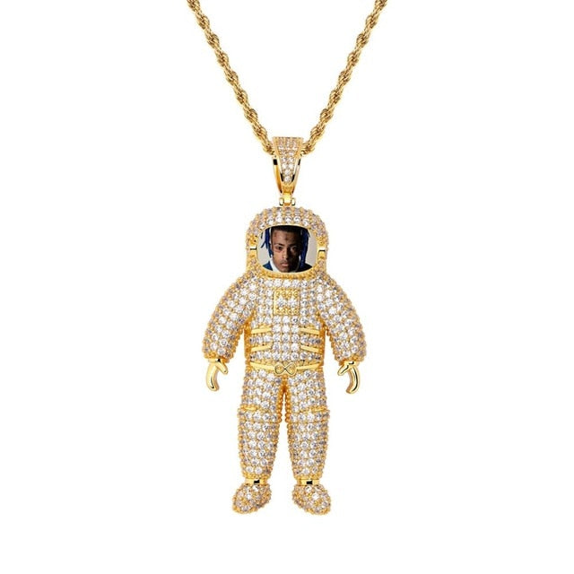 Made Photo Astronauts Necklace & Pendant