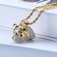 Hip Hop Dog Head Pendant