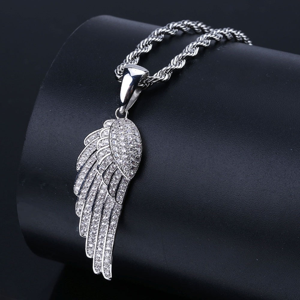 Hip Hop Angel Wings Pendant