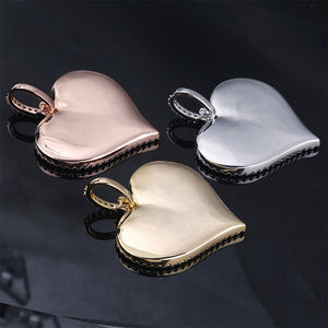 Gold, Rose Gold & Silver Custom Made Photo Heart Medallions Pendant - MajesticVUE