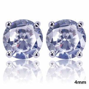 CZ Stone Lab D Stud Earrings - MajesticVUE