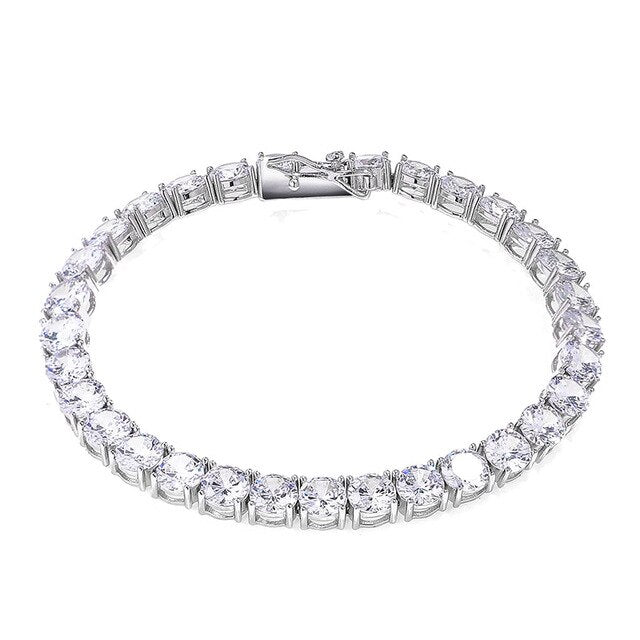 Iced Zircon Tennis Chain  925 Sterling Silver