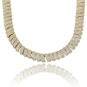Gold Iced Out Cubic Zircon Cuban Link Necklace - MajesticVUE